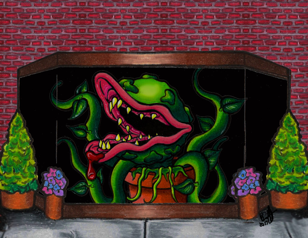 Little Shop of Horrors Performances in March of 2018, Art by Brian