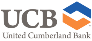 UCB logo with blue and orange image that looks like holding hands